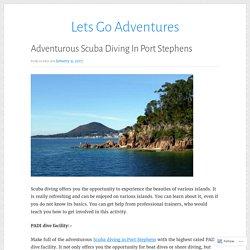 Adventurous Scuba Diving In Port Stephens