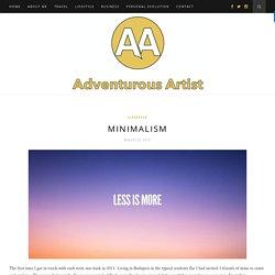 Minimalism - Adventurous ArtistAdventurous Artist