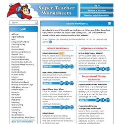 Adverb Worksheets