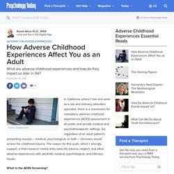 How Adverse Childhood Experiences Affect You as an Adult