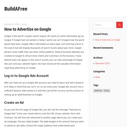 How to Advertise on Google – BuildAFree