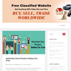 Advertise Your Product Online For Free - 10dayads.com