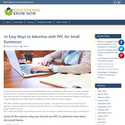 10 Easy Ways to Advertise with PPC for Small Businesses
