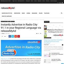 Online Advertisement Booking in Radio City at the lowest cost.