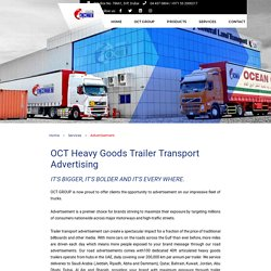 Trailer Transport Advertisement - Dubai, UAE