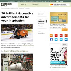 50 brilliant &038; creative advertisements for your inspiration