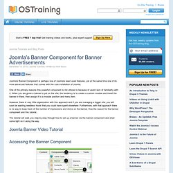 Joomla's Banner Component for Banner Advertisements - Open Source Training