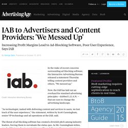 Adblock: «on a déconné», avoue le monde de la pub en ligne