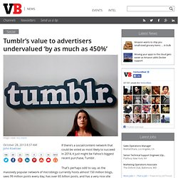 Tumblr's value to advertisers undervalued 'by as much as 450%'