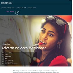 Advertising account planner job profile