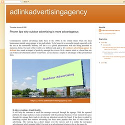 adlinkadvertisingagency: Proven tips why outdoor advertising is more advantageous