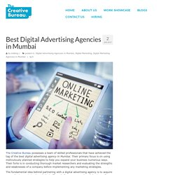 Best Digital Advertising Agencies in Mumbai - The Creative Bureau