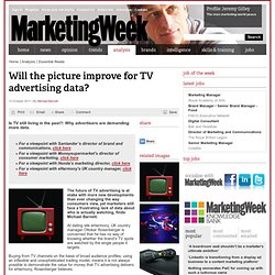 Will the picture improve for TV advertising data?