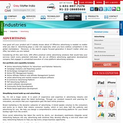 Advertising Web Solutions and Offshore Advertising application Development Company - GMI