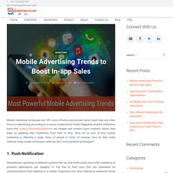 Boost In-App Sales to Mobile Advertising Trends - AppsDiscover
