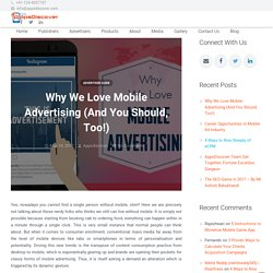 Why We Love Mobile Advertising (And You Should, Too!) - AppsDiscover
