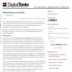 Advertising on the Brain