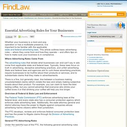 Essential Advertising Rules for Your Businesses