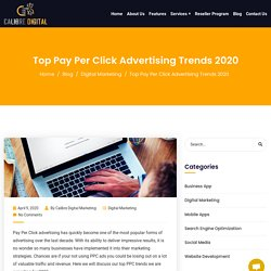 Top Pay Per Click Advertising Trends 2020