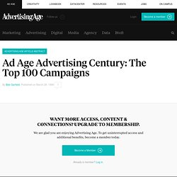 Ad Age Advertising Century: Top 100 Advertising Campaigns
