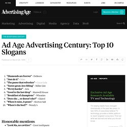 Ad Age Advertising Century: Top 10 Slogans of the Century