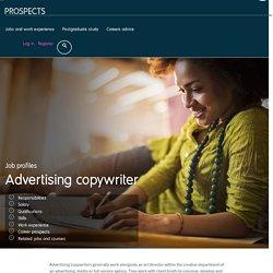Advertising copywriter job profile