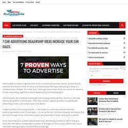 7 CAR ADVERTISING DEALERSHIP IDEAS INCREASE YOUR CAR SALES