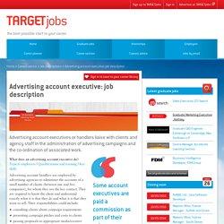 Advertising account executive: job description