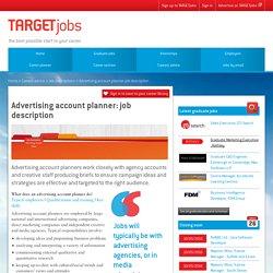 Advertising account planner: job description
