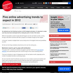 Five online advertising trends to expect in 2012
