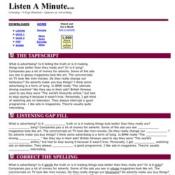 Advertising: Listen A Minute.com: English Listening Lesson