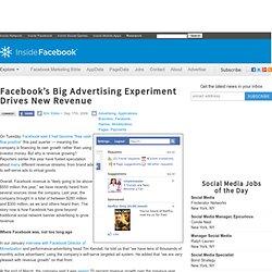 Facebook's Big Advertising Experiment Drives New Revenue