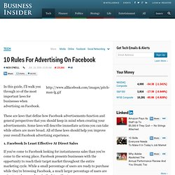 10 Rules For Advertising On Facebook