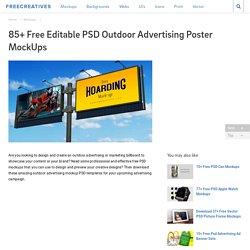 85+ Free PSD Outdoor Advertising MockUps