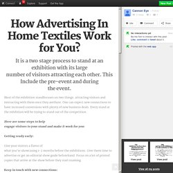 How Advertising In Home Textiles Work for You?