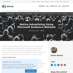 Native Advertising Using Microsoft Audience Network