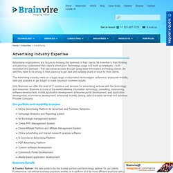 Advertising Industries Expertise - Online Advertising, Ad Exchange & More Solutions