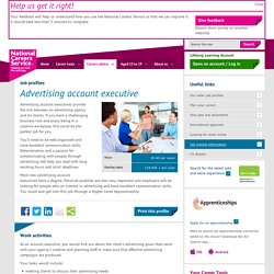 Advertising account executive job information