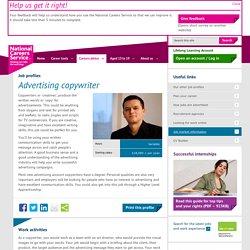 Advertising copywriter job information