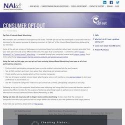 NAI: Network Advertising Initiative