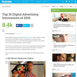 Top 10 Digital Advertising Innovations of 2010