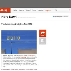 7 advertising insights for 2010