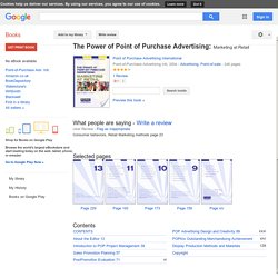 The Power of Point of Purchase Advertising: Marketing at Retail - Point of Purchase Advertising International