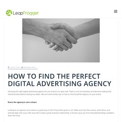 How To Find The Perfect Digital Advertising Agency