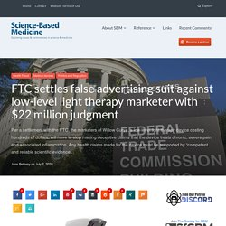 FTC settles false advertising suit against low-level light therapy marketer with $22 million judgment
