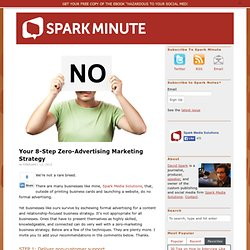 Your 8-Step Zero-Advertising Marketing Strategy