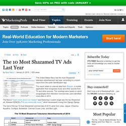 Advertising - The 10 Most Shazamed TV Ads Last Year
