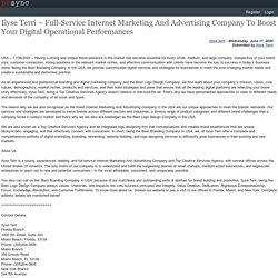 Ilyse Terri – Full-Service Internet Marketing And Advertising Company To Boost Your Digital Operational Performances