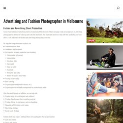 Advertising Photographer Melbourne