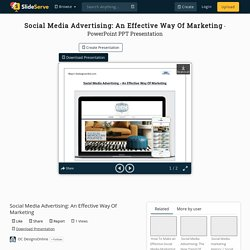 Effective Way of Advertising on Social Media